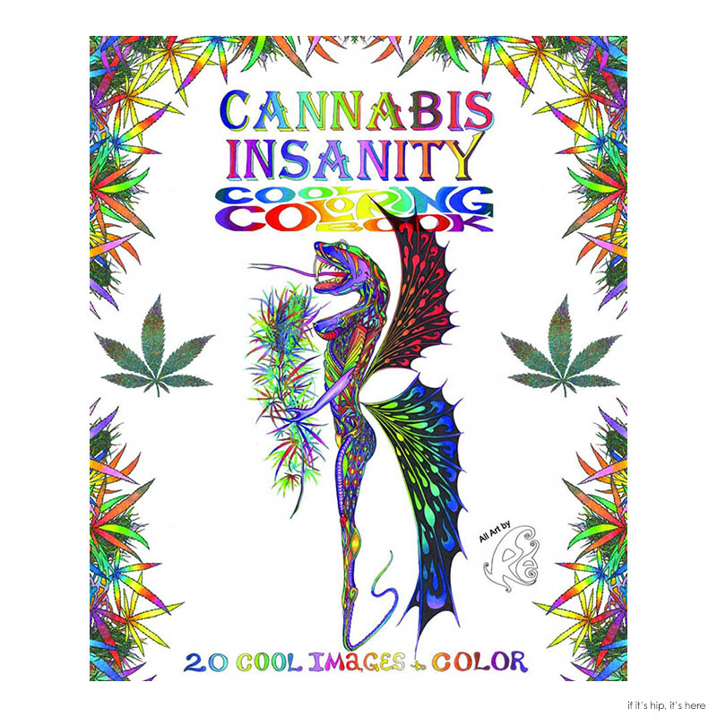 cannabis Insanity Coloring book cover
