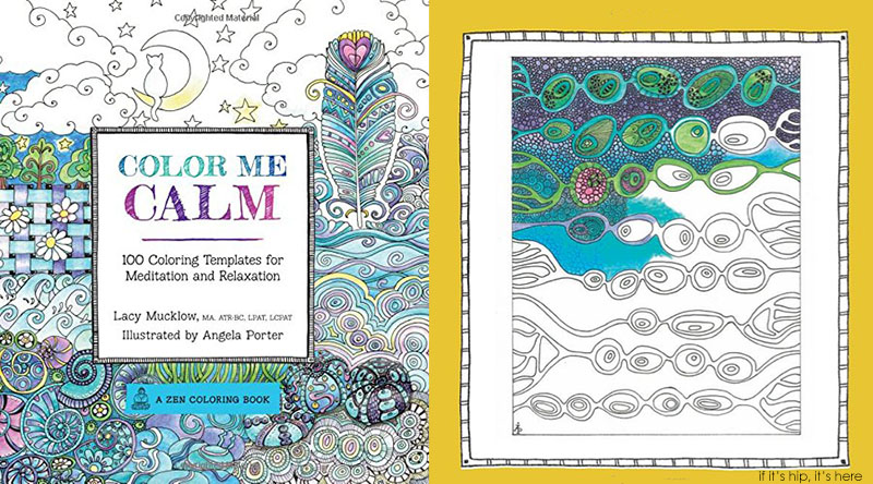 color me calm cover and page IIHIH