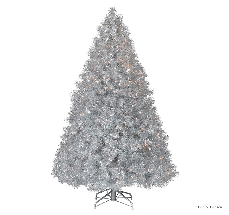 Holographic Christmas Tree.Silver Stardust Christmas Tree Iihih If It S Hip It S Here