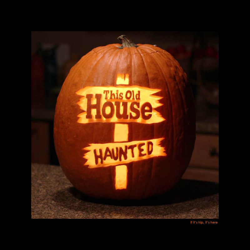 this old house haunted pumpkin
