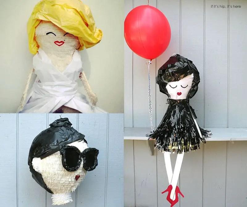 Marilyn audrey and chic girl pinatas