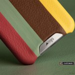 Grip Stripes: Customizable Colored Leather Striped iPhone 6 Cases