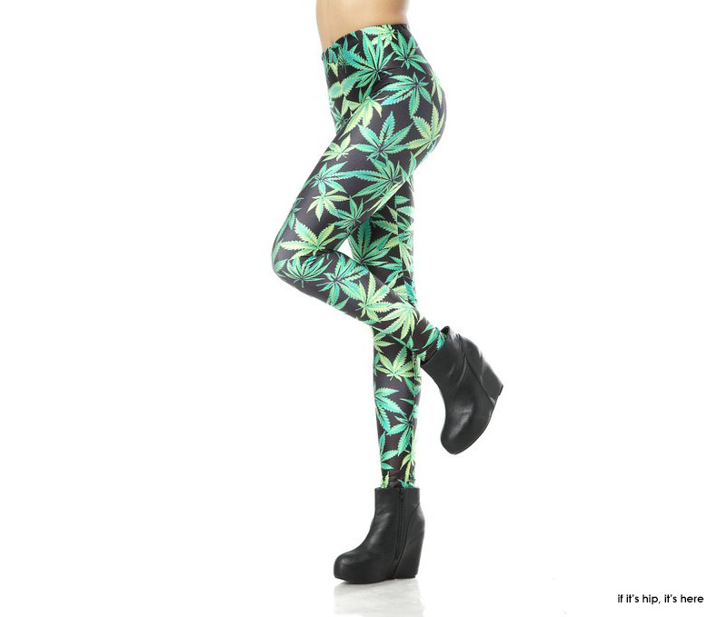 cannabis leggings by Loveliness IIHIH