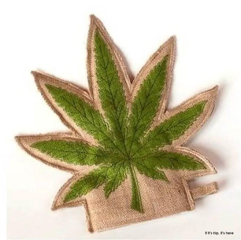 hemp pot leaf kitchen glove IIHIH
