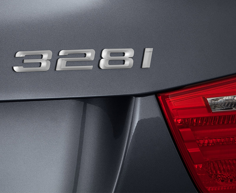 BMW 328i badge