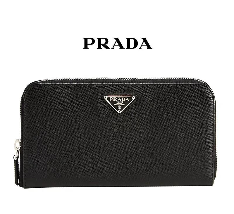 prada-triangle-nero-saffiano-leather-zip-around-wallet