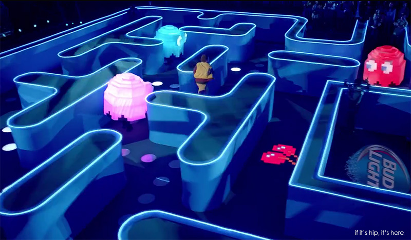 Real Life Pac Man Game for Bud Light