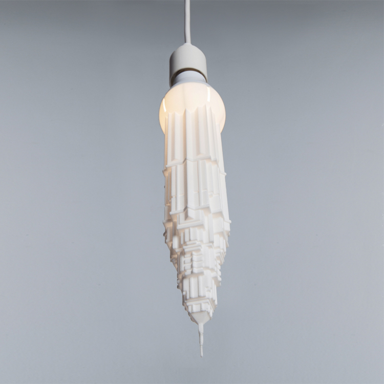 3D printed pendant light