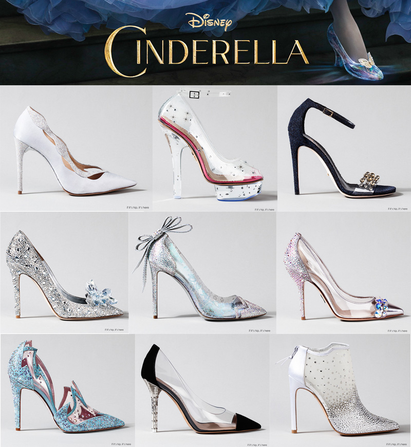 913a59281db Fit For A Princess  The Finished Designer Cinderella Glass Slippers ...