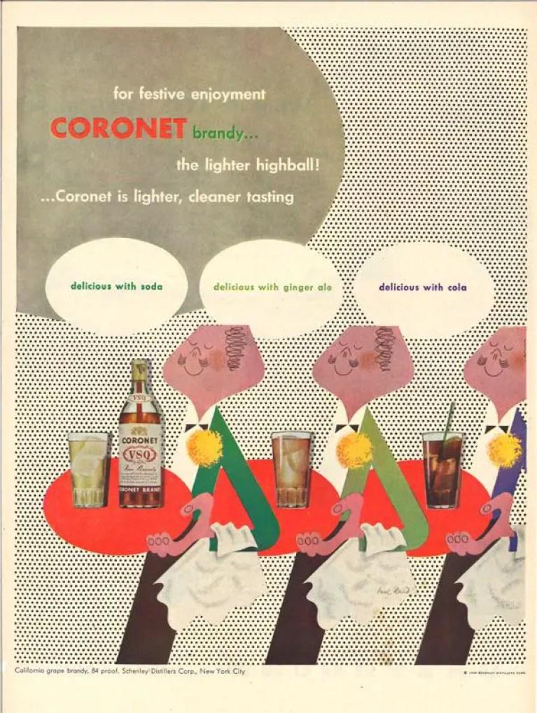 Coronet Brandy magazine advertisement, 1948 ~ Private Collection