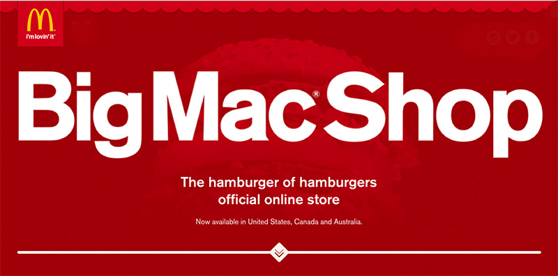 big mac shop header