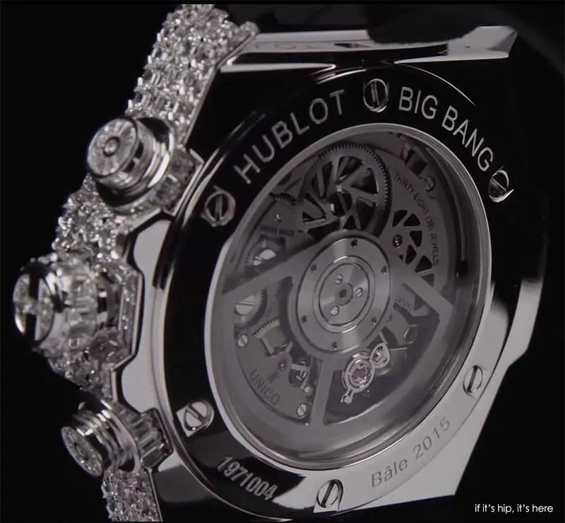 hublot big bang white diamonds backside IIHIH