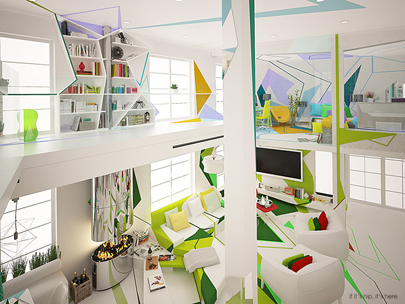 Colorful Kandinsky Inspired Home Interior By Brani Amp Desi