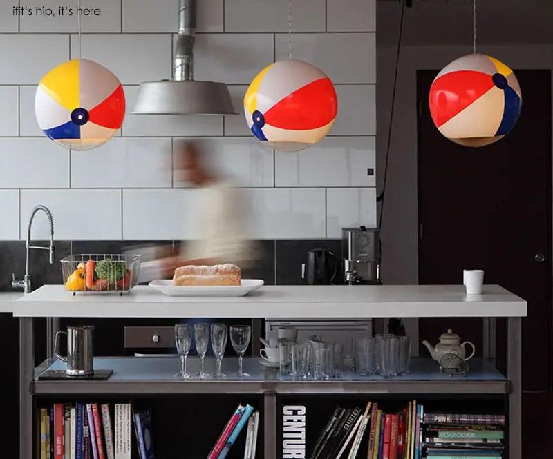 Beach Ball lights in kitchen IIHIH