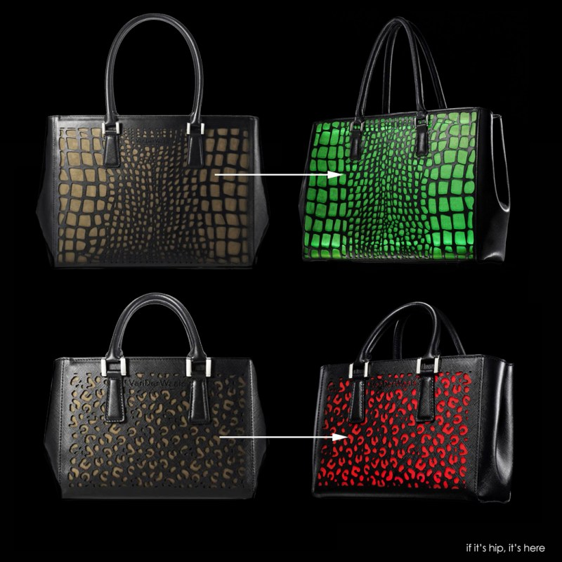 vanderwaals color-changing handbags