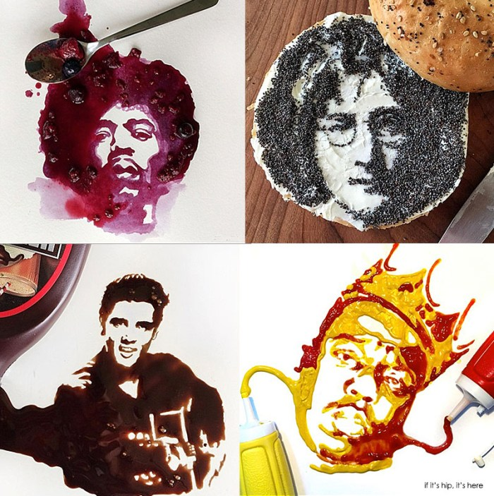 celebrity food art