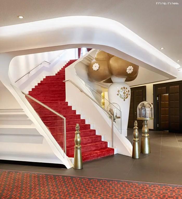 Kameha Grand Life lobby stairs