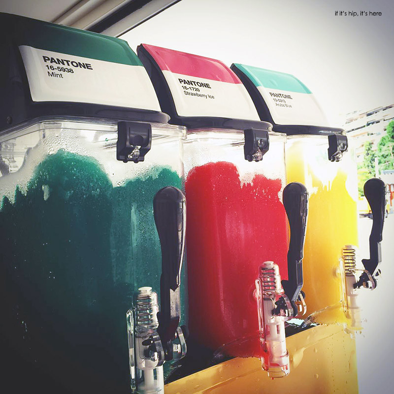 Pantone cafe italian ice sodas