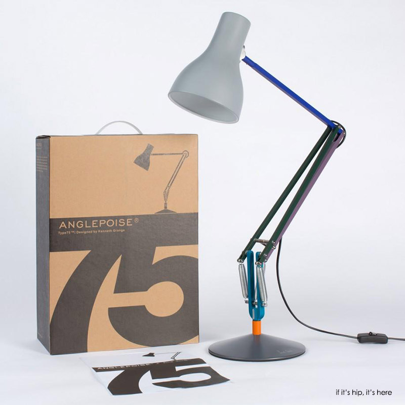 anglepoise paul smith launch type 75 edition two desk. Black Bedroom Furniture Sets. Home Design Ideas