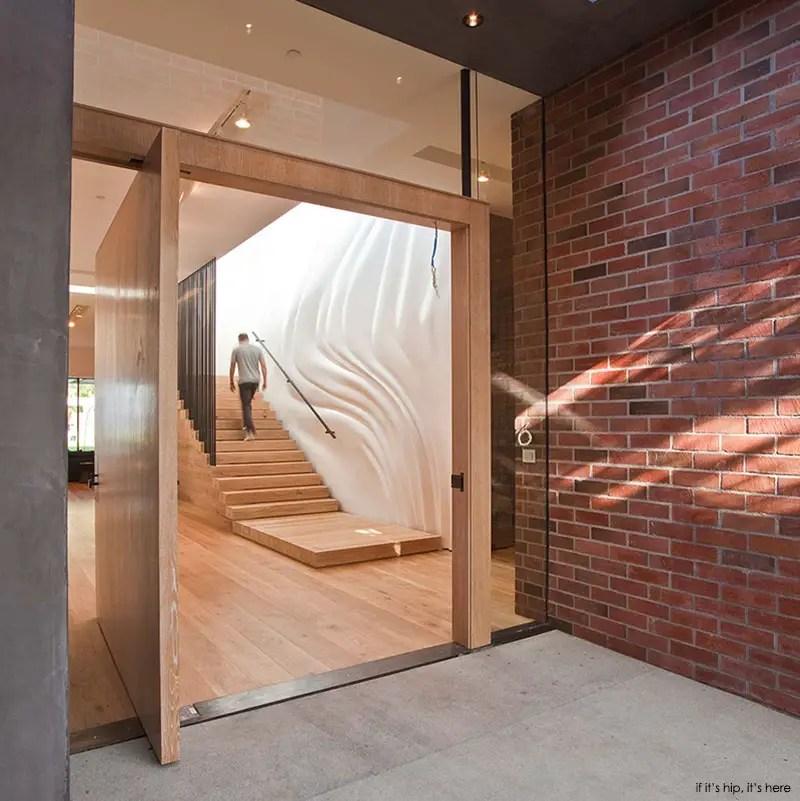 StoneRidge wooden pivot door