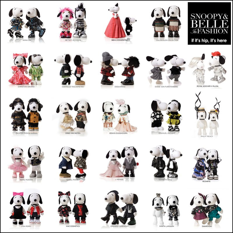 designers dress snoopy & belle