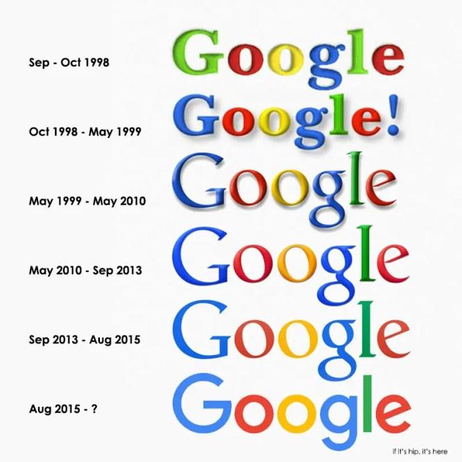 google logos 1998-2015 IIHIH