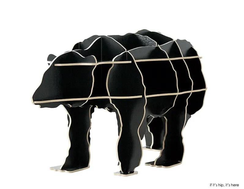 polar bear black front