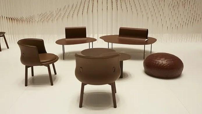 nendo Chocolatetexture lounge 3