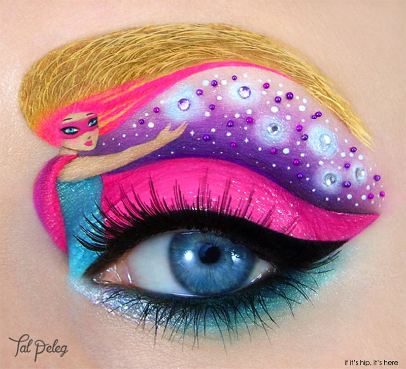 Barbie eye makeup