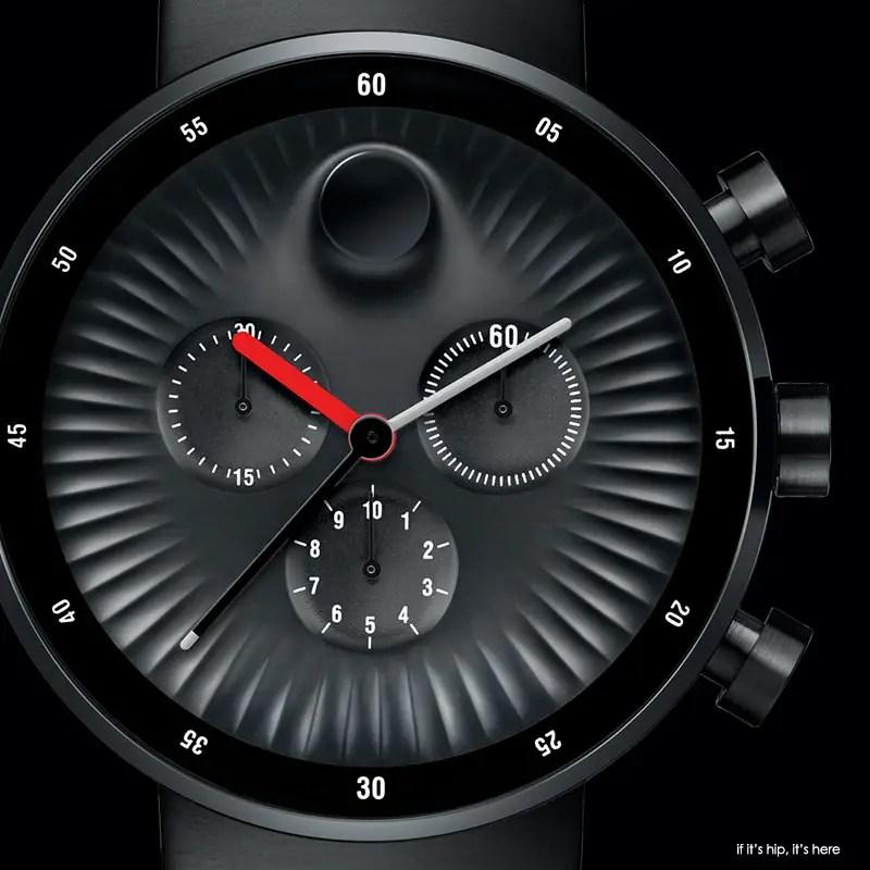 Movado edge black chronograph1