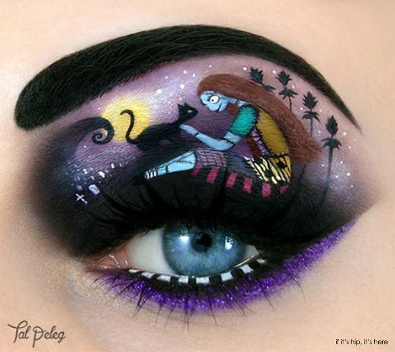 Sally Nightmare before christmas eye makeup collab with Anna Lingis