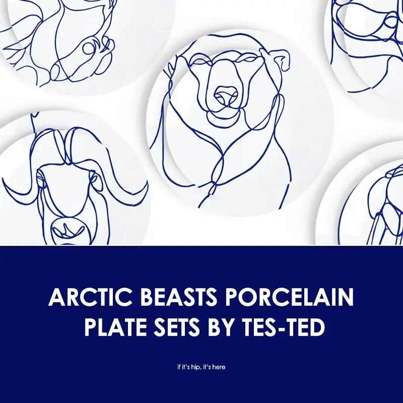 arctic beasts porcelain plates