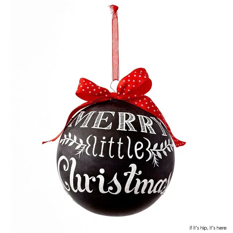 Merry Little Christmas Chalkboard Ornament