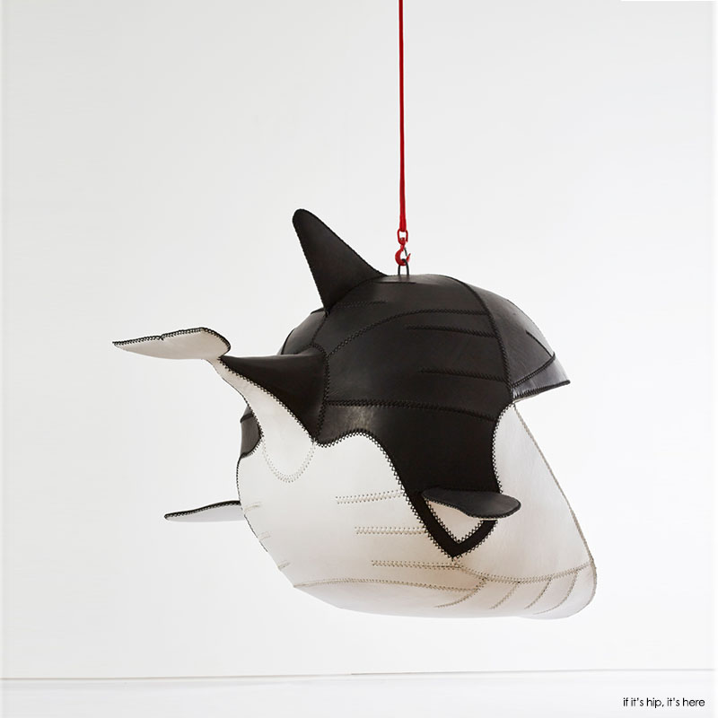 Fiona shark hanging chair by porky hefer 2