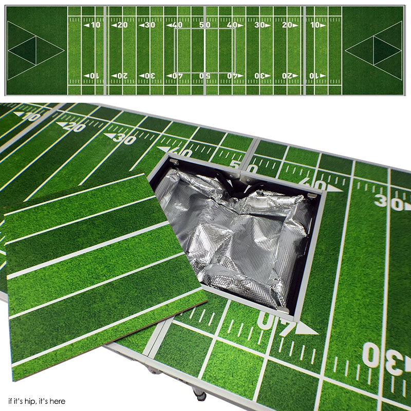 Football Stadium Lights End Table: Beer Pong Tables With Built-In Coolers!