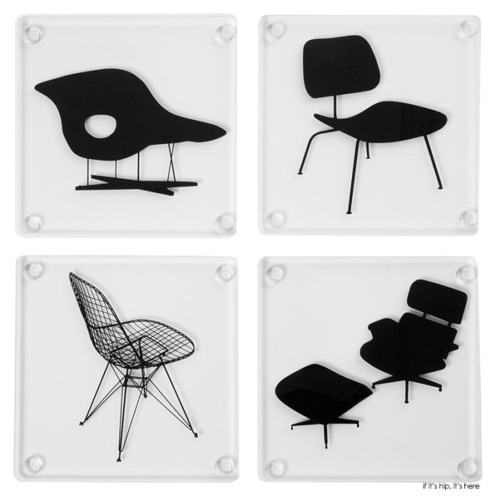 MoMA eames chair coasters