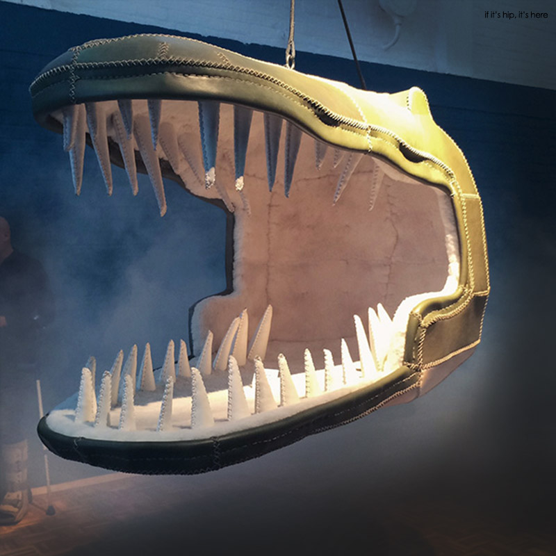 eugenie crocodile chair in exhibit