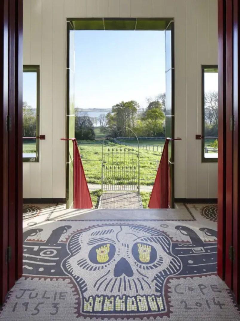 mosaic tile entrance house for essex