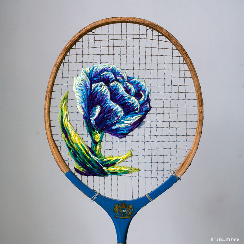 Embroidered Tennis Rackets