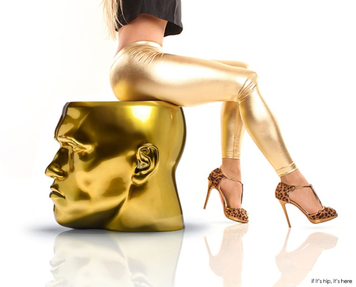 gold arnold schwarzenegger stool