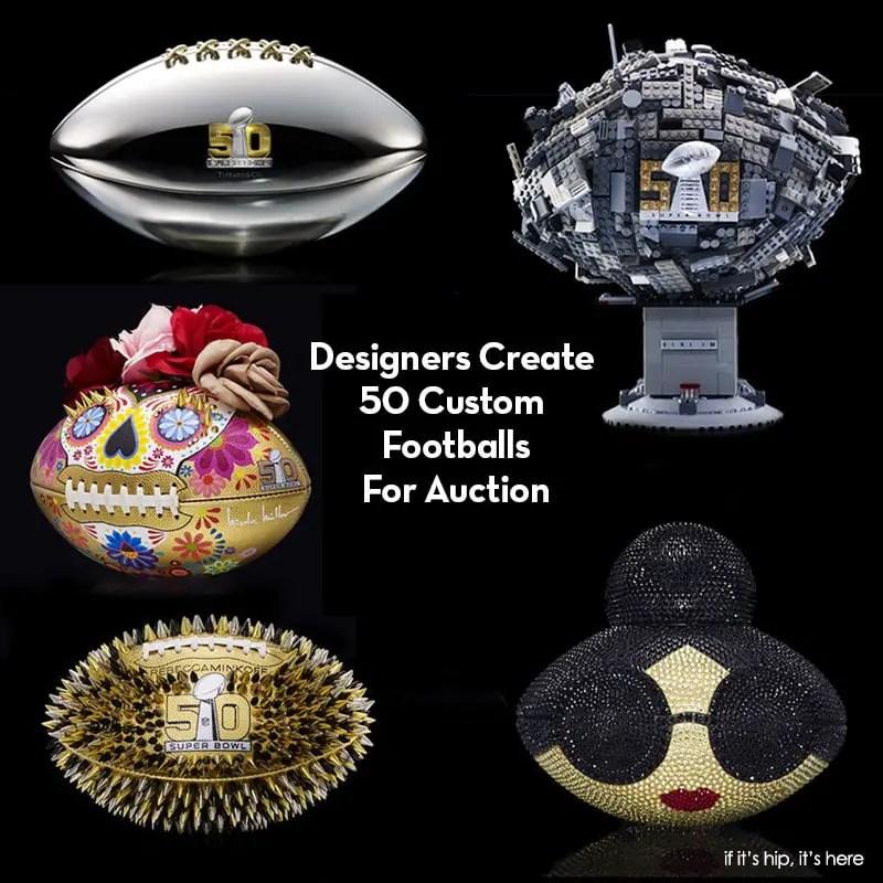 50 custom footballs for auction