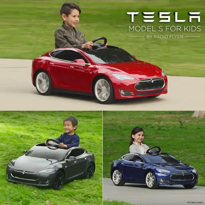 Radio Flyer Tesla S Model for kids