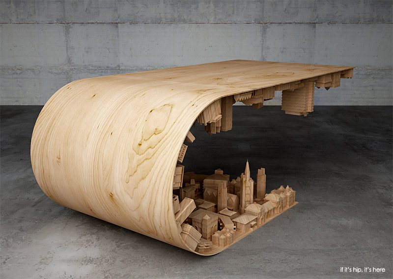 Stelios Mousarris wave city coffee table
