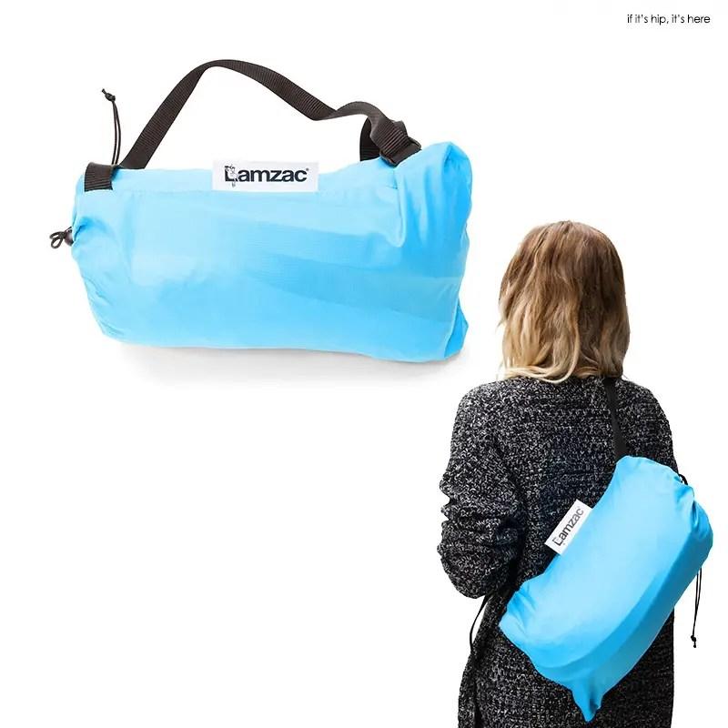 Lamzac in bag and worn