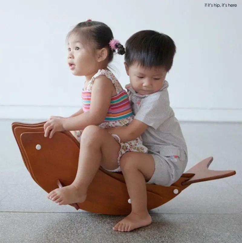 Rocking Dolphin Kid furniture by Daisuke Nagatomo and Minnie Jan