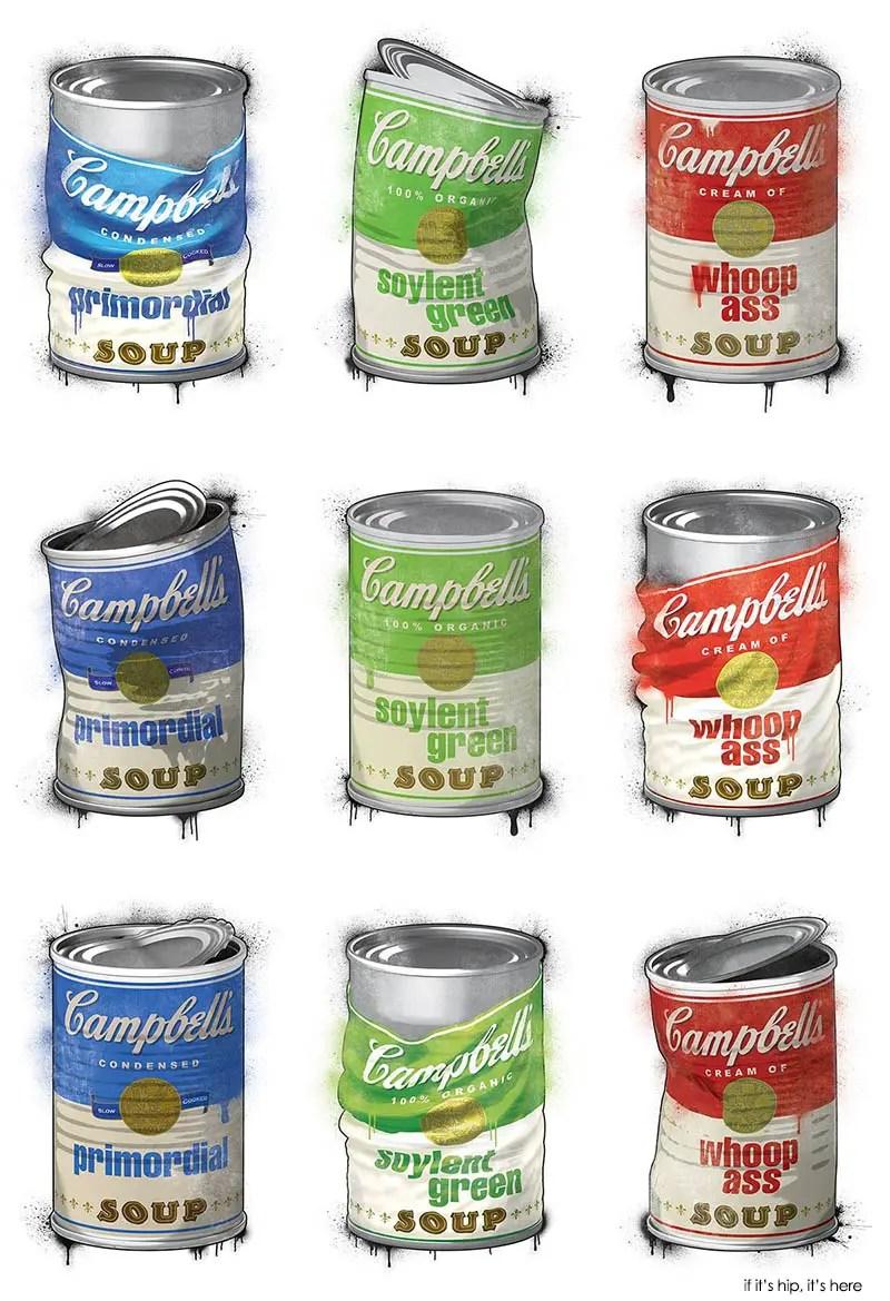 Campbell\'s Mock Soup Can Prints by Strange Case Company