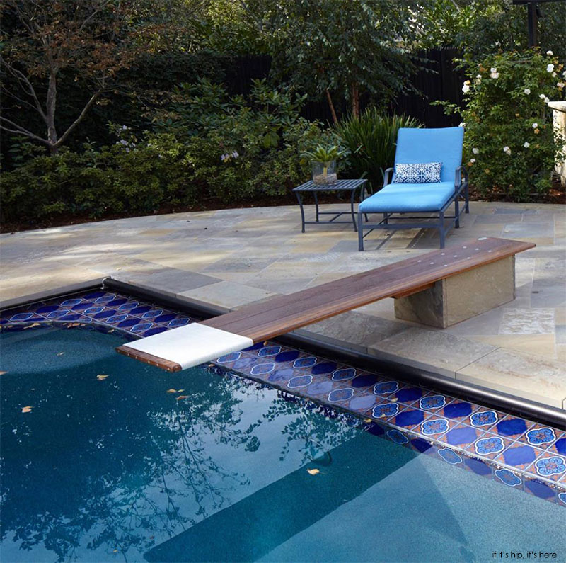 custom stone base for diving board