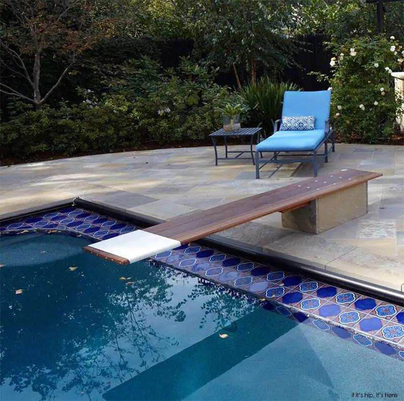 custom stone base for diving board