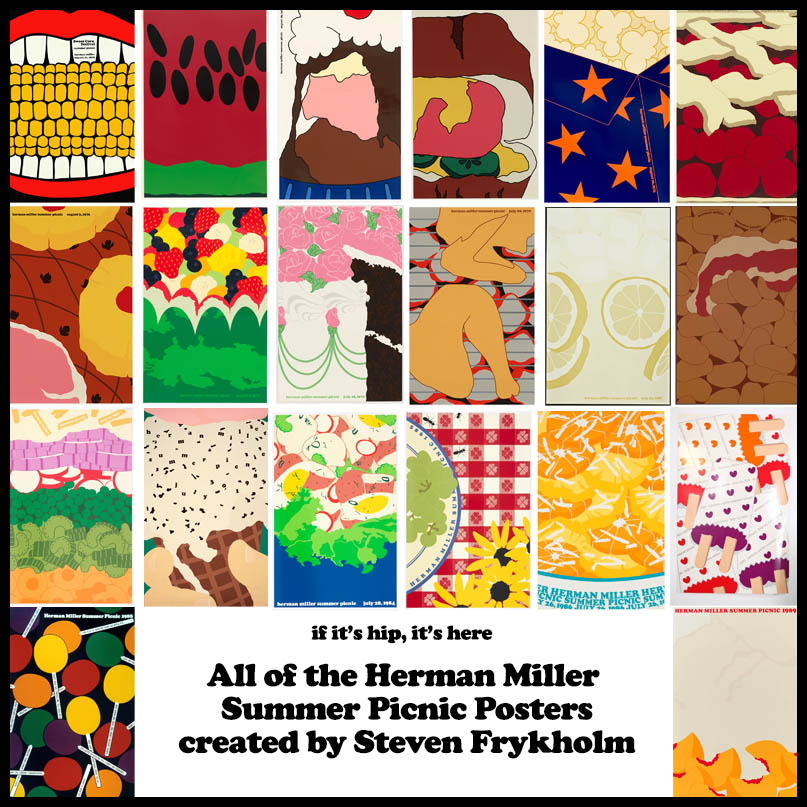 All The Herman Miller Picnic Posters by Steven Frykholm