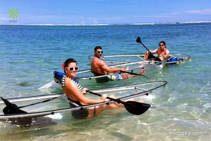 Totally Transparent Canoes and Kayaks - the best prices